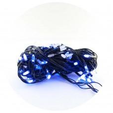 Гирлянда-нить (String-Lights) 100B-3 внутренняя, пров.:черный, 7м (Синий)