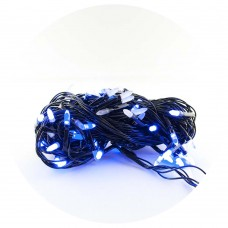 Гирлянда-нить (String-Lights) 300B-3 внутренняя, пров.:черный, 12м (Синий)
