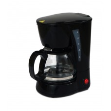 Кофеварка DOMOTEC MS-0707 Черная (650Вт, стек. колба 600мл)