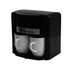 Кофеварка DOMOTEC MS-0708 Черная (500Вт, 2 кер. чашки по 150мл)
