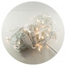 Гирлянда-бахрома (Icecle-Lights) 100 Short curtain-WW-2 наружная, пров.:белый, 3м (Белый-теплый)