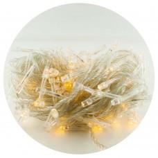 Гирлянда-нить (String-Lights) 100WW-1 внутренняя, пров.:прозрачный, 7м (Белый-теплый)