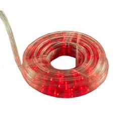Гирлянда-лента (Pope-Light) R наружная, пров.:прозрачный, 10м (Красный)