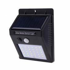 Уличный настенный светильник с датчиком движения 30LED квадратная (BG102/00030/609-30)