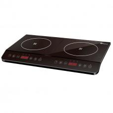 Электроплита DOMOTEC MS-5872 Black (индукционная на 2 конфорки/2ИД)