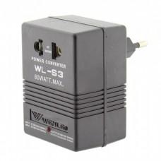 Адаптер 110V/220V 220V/110V 80W WL-S3
