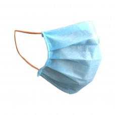 Защитная маска для лица Украина Синяя (одноразовая, швейка)