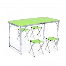 Стол и стулья Easy Campi 1+4 120х60х70см Зеленый 7201 (складной, для пикника)