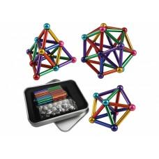 Разноцветный магнитный конструктор Buckyballs & Buckybars, 64 детали