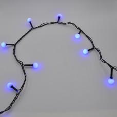 Гирлянда-нить (String-Lights) 100B-6-2 внутренняя, пров.:черный, 7м (Синий)