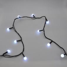 Гирлянда-нить (String-Lights) 100W-6-2 внутренняя, пров.:черный, 7м (Белый)