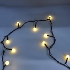 Гирлянда-нить (String-Lights) 100WW-6-2 внутренняя, пров.:черный, 7м (Белый-теплый)