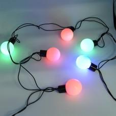 Гирлянда-нить (String-Lights) 20BIG BALL-M внутренняя, пров.:черный, 4.5м (Разноцветная)