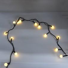 Гирлянда-нить (String-Lights) 200WW-6-2 внутренняя, пров.:черный, 12м (Белый-теплый)