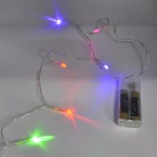 Гирлянда-нить (String-Lights) 30 Battery M внутренняя, пров.:прозрачный, 4м (Разноцветная)