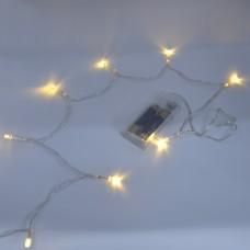 Гирлянда-нить (String-Lights) 30 Battery WW внутренняя, пров.:прозрачный, 3м (Белый-теплый)