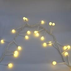 Гирлянда-нить (String-Lights) 100WW-9 внутренняя, пров.:белый, 3м (Белый-теплый)