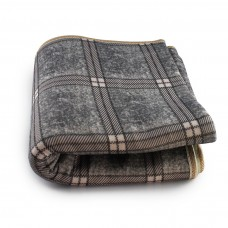 Простынь электрическая с сумкой Electric Blanket 150х170см (клетчатая, Серая) [7422]