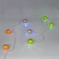 Гирлянда-нить (String-Lights) 20Parts-M внутренняя, пров.:прозрачный, 3м (Разноцветная)
