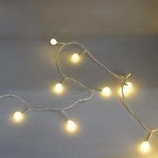 Гирлянда-нить (String-Lights) 100WW-6-1 внутренняя, пров.:белый, 7м (Белый-теплый)
