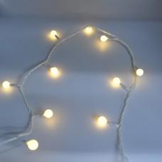 Гирлянда-нить (String-Lights) 200WW-6-1 внутренняя, пров.:белый, 12м (Белый-теплый)