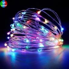 Гирлянда-роса (Copper Wire) 100M-1 внутренняя, пров.:прозрачный, 10м (Разноцветная)
