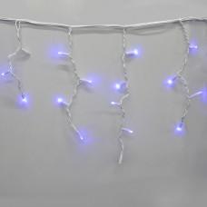 Гирлянда-бахрома (Icecle-Lights) 120 Short curtain-B-1 наружная, пров.:белый, 5м (Синий)