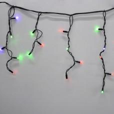 Гирлянда-бахрома (Icecle-Lights) 120 Short curtain-M-2 наружная, пров.:черный, 5м (Разноцветная)