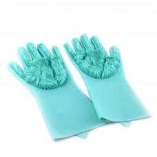 Перчатки для мытья посуды с щеткой Kitchen Gloves
