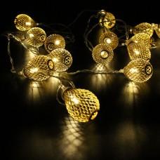 Гирлянда-нить (String-Lights) Metal Ball 20WW-1 внутренняя, пров.:прозрачный, 2м (Белый-теплый)