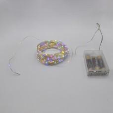 Гирлянда-роса (Copper Wire) 200M-1 внутренняя, пров.:прозрачный,  (Разноцветная)