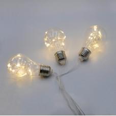 Гирлянда-бахрома (Icecle-Lights) 80WW-2 внутренняя, пров.:прозрачный, 2м (Белый-теплый)