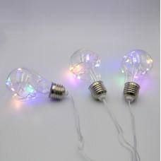 Гирлянда-бахрома (Icecle-Lights) 80M-2 внутренняя, пров.:прозрачный, 2м (Разноцветная)