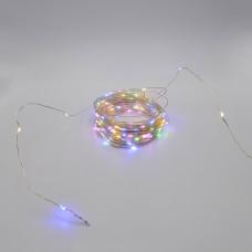 Гирлянда-роса (Copper Wire) 200M-4 внутренняя, пров.:прозрачный, 20м (Разноцветная)