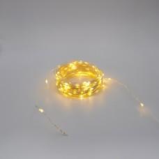 Гирлянда-роса (Copper Wire) 200WW-4 внутренняя, пров.:прозрачный, 20м (Белый-теплый)