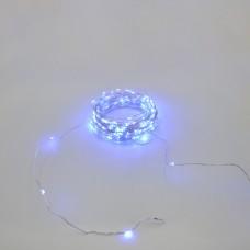 Гирлянда-роса (Copper Wire) 200B-4 внутренняя, пров.:прозрачный, 20м (Синий)