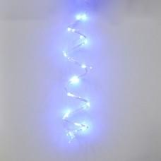 Гирлянда-роса (Copper Wire) 200B-2 внутренняя, пров.:прозрачный, 2м (Синий) Конский хвост
