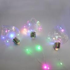 Гирлянда-штора (Curtain-Lights) 150M-4 внутренняя, пров.:прозрачный, 3м (Разноцветная)
