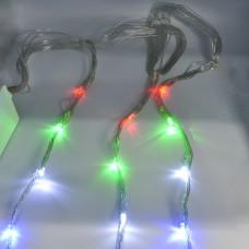 Гирлянда-водопад (Curtain-Lights) Itrains 400M-2 внутренняя, пров.:прозрачный, 3*2м (Разноцветная)