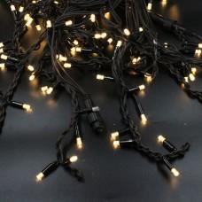 Гирлянда-бахрома (Icecle-Lights) 150 Short curtain-WW-2 наружная, пров.:черный, 10м (Белый-теплый)