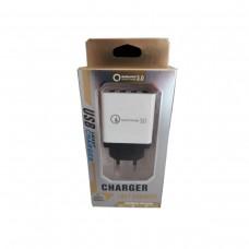 Адаптер Fast Charge 220v 4  USB