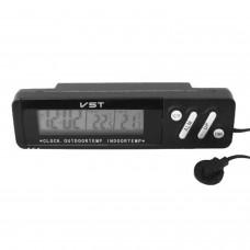 Термометр с часами VST-7067