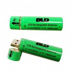 Аккумулятор 18650 c USB