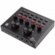 Внешняя звуковая карта V8 c Bluetooth и встроенными пресетами