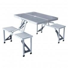 Стол складной алюминиевый для пикника со стульями