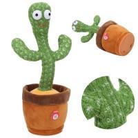 Танцующий кактус поющий Dancing Cactus (120 песен с подсветкой от батареек)