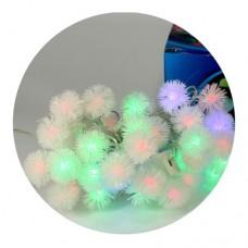 Гирлянда-нить (String-Lights) 40Plastic-5 внутренняя, пров.:белый, 5м (Разноцветная)