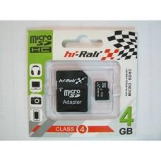 Карта памяти HI-RALI 04GB4 with Adapter