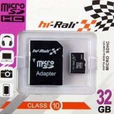 Карта памяти HI-RALI 32GB10 with Adapter